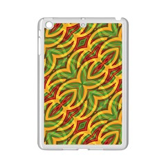 Tropical Colors Abstract Geometric Print Apple iPad Mini 2 Case (White)