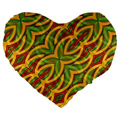 Tropical Colors Abstract Geometric Print 19  Premium Heart Shape Cushion