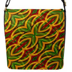Tropical Colors Abstract Geometric Print Flap Closure Messenger Bag (Small)