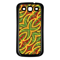 Tropical Colors Abstract Geometric Print Samsung Galaxy S3 Back Case (black)