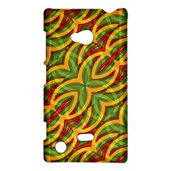 Tropical Colors Abstract Geometric Print Nokia Lumia 720 Hardshell Case