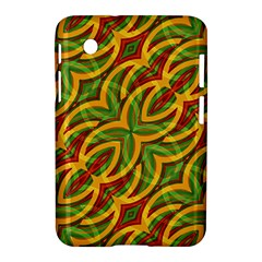 Tropical Colors Abstract Geometric Print Samsung Galaxy Tab 2 (7 ) P3100 Hardshell Case