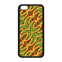 Tropical Colors Abstract Geometric Print Apple iPhone 5C Seamless Case (Black)