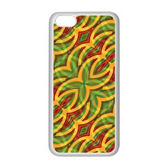 Tropical Colors Abstract Geometric Print Apple Iphone 5c Seamless Case (white)