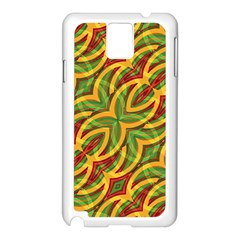 Tropical Colors Abstract Geometric Print Samsung Galaxy Note 3 N9005 Case (White)