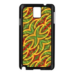 Tropical Colors Abstract Geometric Print Samsung Galaxy Note 3 N9005 Case (Black)