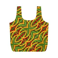 Tropical Colors Abstract Geometric Print Reusable Bag (M)