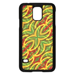 Tropical Colors Abstract Geometric Print Samsung Galaxy S5 Case (Black)
