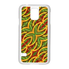 Tropical Colors Abstract Geometric Print Samsung Galaxy S5 Case (White)