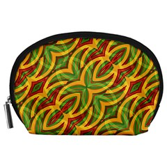 Tropical Colors Abstract Geometric Print Accessory Pouch (Large)