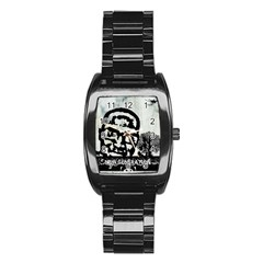 m.g firetested Stainless Steel Barrel Watch