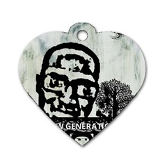 m.g firetested Dog Tag Heart (One Sided)