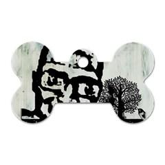 M G Firetested Dog Tag Bone (one Sided)