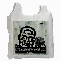 m.g firetested White Reusable Bag (One Side)