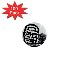 M G Firetested 1  Mini Button Magnet (100 Pack)