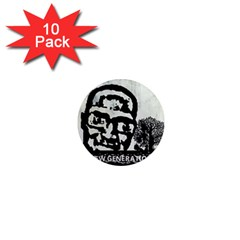 M G Firetested 1  Mini Button Magnet (10 Pack)