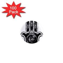 Hamsamusiceyebubblesz 1  Mini Button Magnet (100 pack)