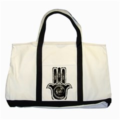 Hamsamusiceyebubblesz Two Toned Tote Bag