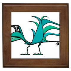Fantasy Bird Framed Ceramic Tile