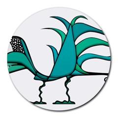 Fantasy Bird 8  Mouse Pad (round)