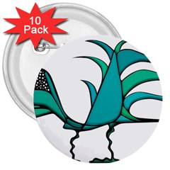 Fantasy Bird 3  Button (10 pack)