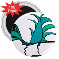 Fantasy Bird 3  Button Magnet (100 Pack)