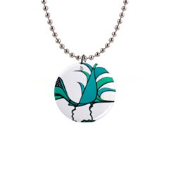 Fantasy Bird Button Necklace