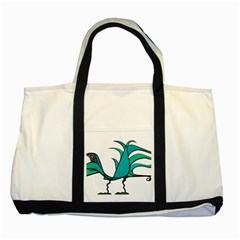 Fantasy Bird Two Toned Tote Bag
