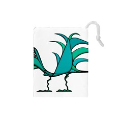 Fantasy Bird Drawstring Pouch (Small)