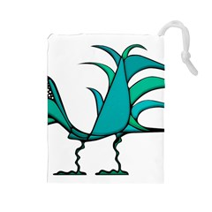 Fantasy Bird Drawstring Pouch (Large)