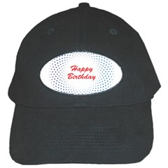 Halftone Circle With Squares Black Baseball Cap