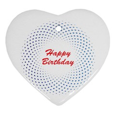 Halftone Circle With Squares Heart Ornament