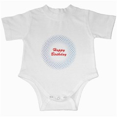 Halftone Circle With Squares Infant Bodysuit