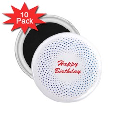 Halftone Circle With Squares 2.25  Button Magnet (10 pack)
