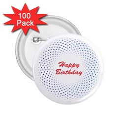 Halftone Circle With Squares 2 25  Button (100 Pack)