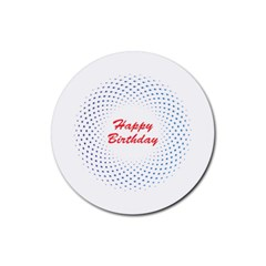 Halftone Circle With Squares Drink Coasters 4 Pack (round)