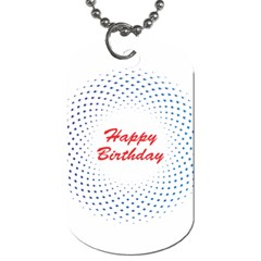 Halftone Circle With Squares Dog Tag (Two-sided)