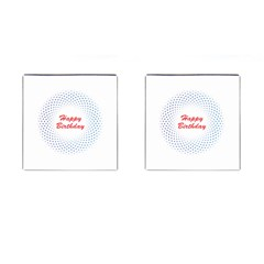 Halftone Circle With Squares Cufflinks (square)