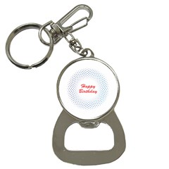 Halftone Circle With Squares Bottle Opener Key Chain