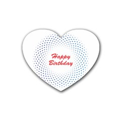 Halftone Circle With Squares Drink Coasters 4 Pack (heart)