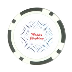 Halftone Circle With Squares Poker Chip