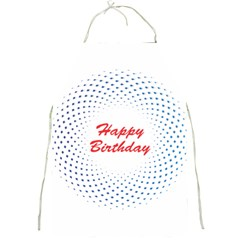 Halftone Circle With Squares Apron