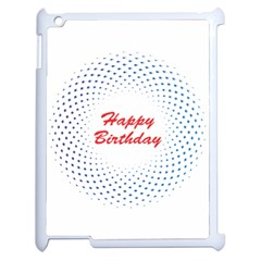 Halftone Circle With Squares Apple Ipad 2 Case (white)