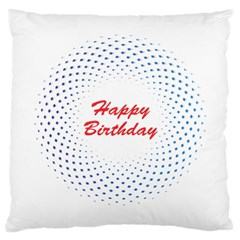 Halftone Circle With Squares Large Cushion Case (single Sided)