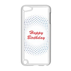 Halftone Circle With Squares Apple Ipod Touch 5 Case (white)