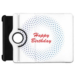 Halftone Circle With Squares Kindle Fire HD 7  (1st Gen) Flip 360 Case