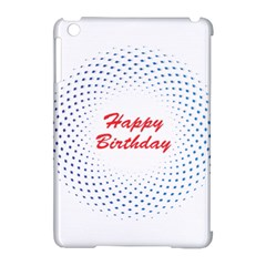 Halftone Circle With Squares Apple iPad Mini Hardshell Case (Compatible with Smart Cover)