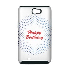 Halftone Circle With Squares Samsung Galaxy Note 2 Hardshell Case (PC+Silicone)