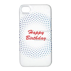 Halftone Circle With Squares Apple Iphone 4/4s Hardshell Case With Stand