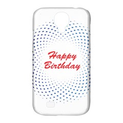 Halftone Circle With Squares Samsung Galaxy S4 Classic Hardshell Case (PC+Silicone)